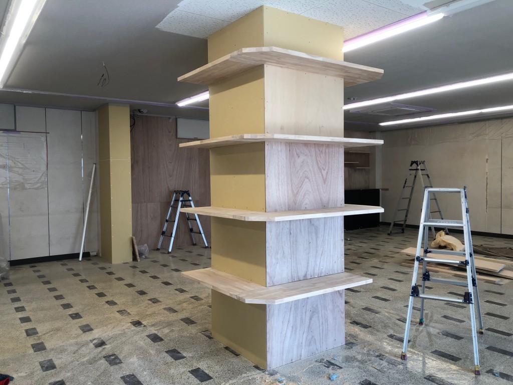 柱回り 造作 店舗改装