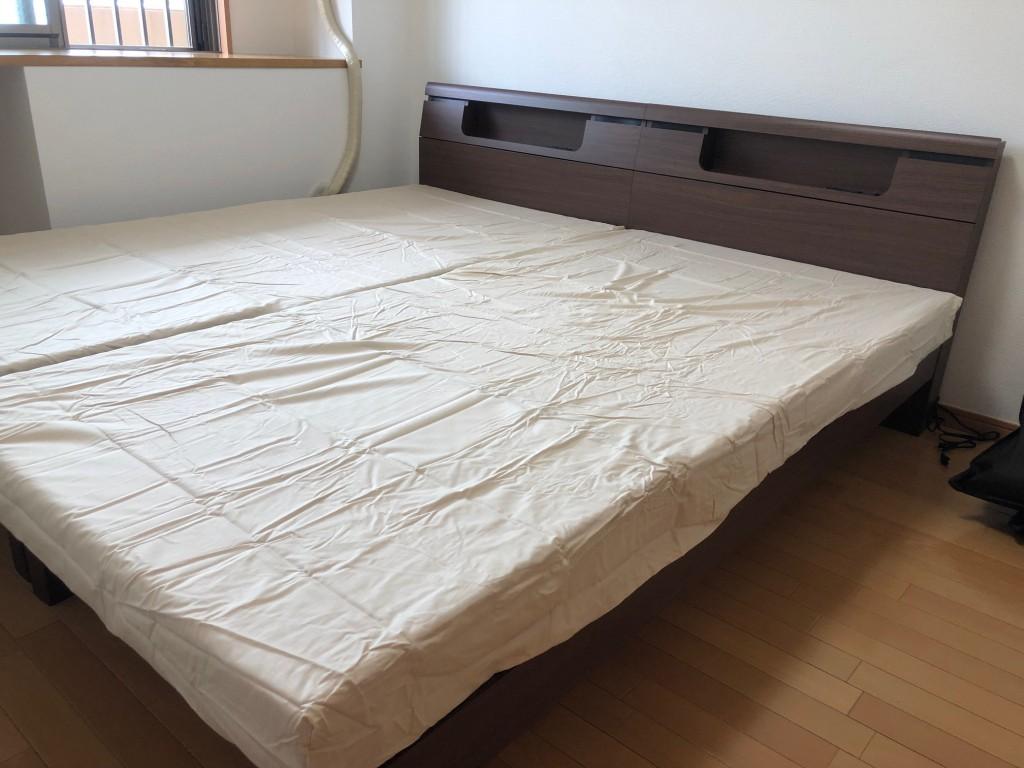 ベッド シンプル お洒落 ウォールナット 名古屋 愛知