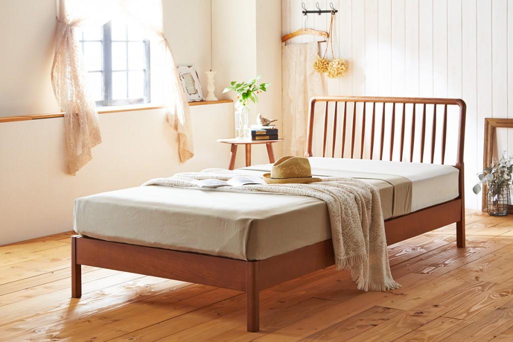 ベッド 電動 シンプル お洒落 天白