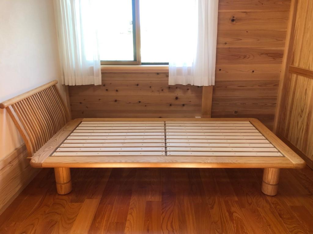 天然木無垢材 ベッド お洒落 シンプル 和室