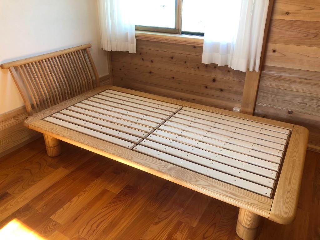 ベッド 無垢材 日本製 国産 西川 新高間