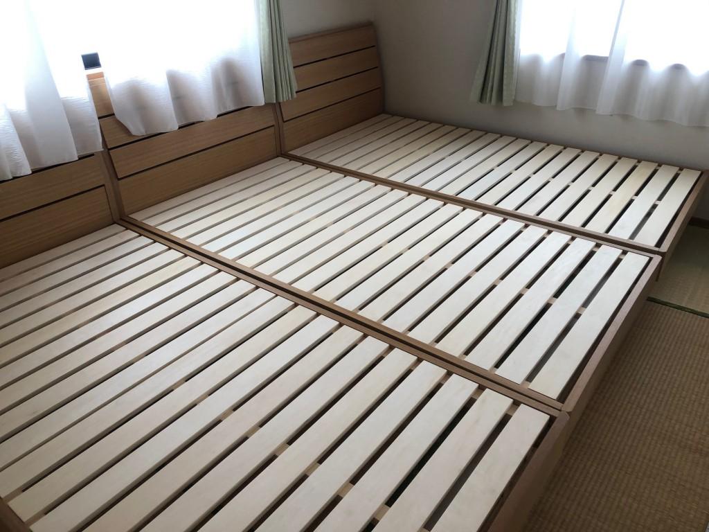 すのこベッドは通気性抜群でカビ対策にも最適♪