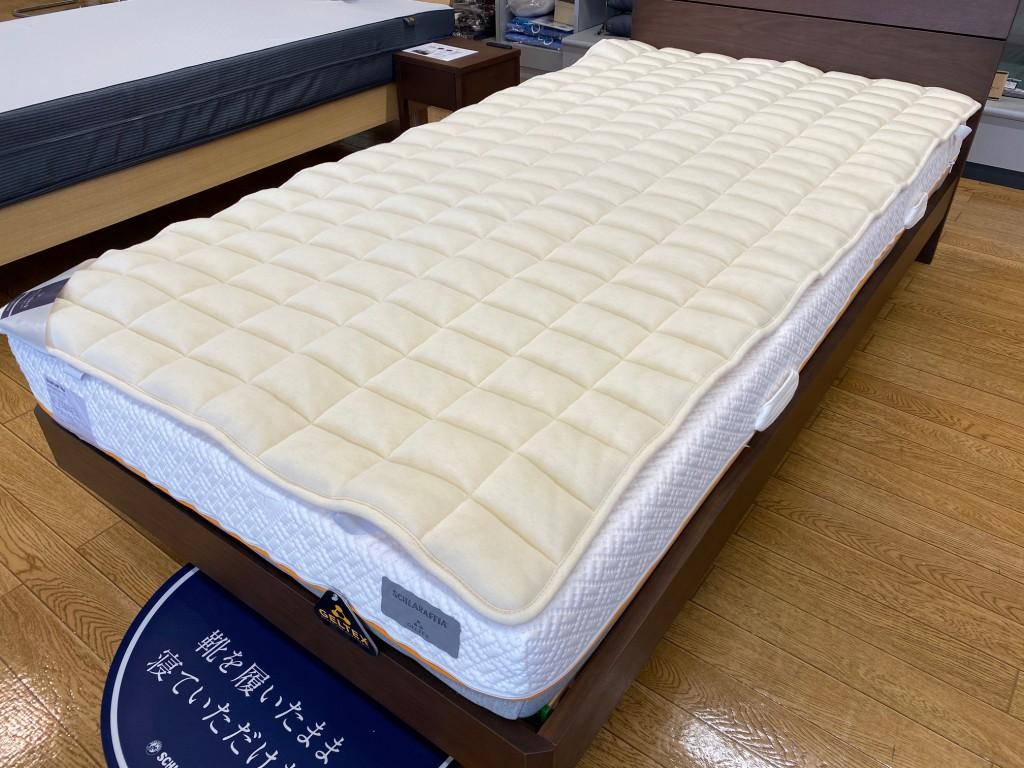 ゲルテックス180マットレスは、ビラベック羊毛ベッドパッドとの相性も抜群!