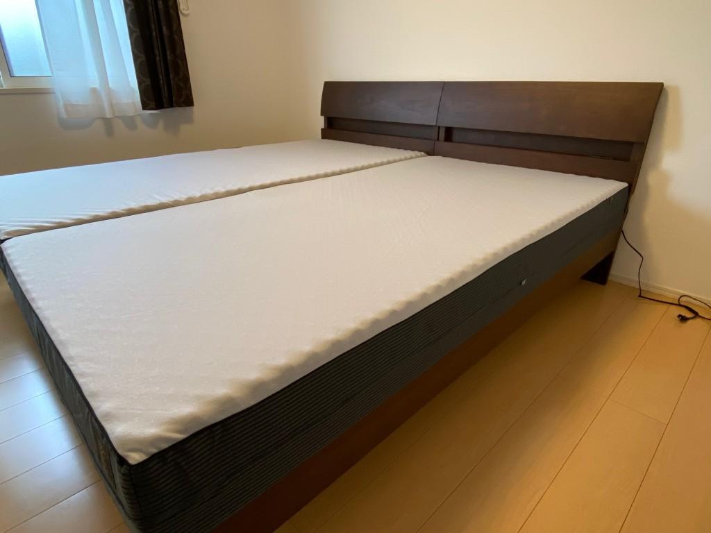 FITLABOベッドマットレスシリーズは基本の長さが200cm。長身の方でもゆったり眠れます。