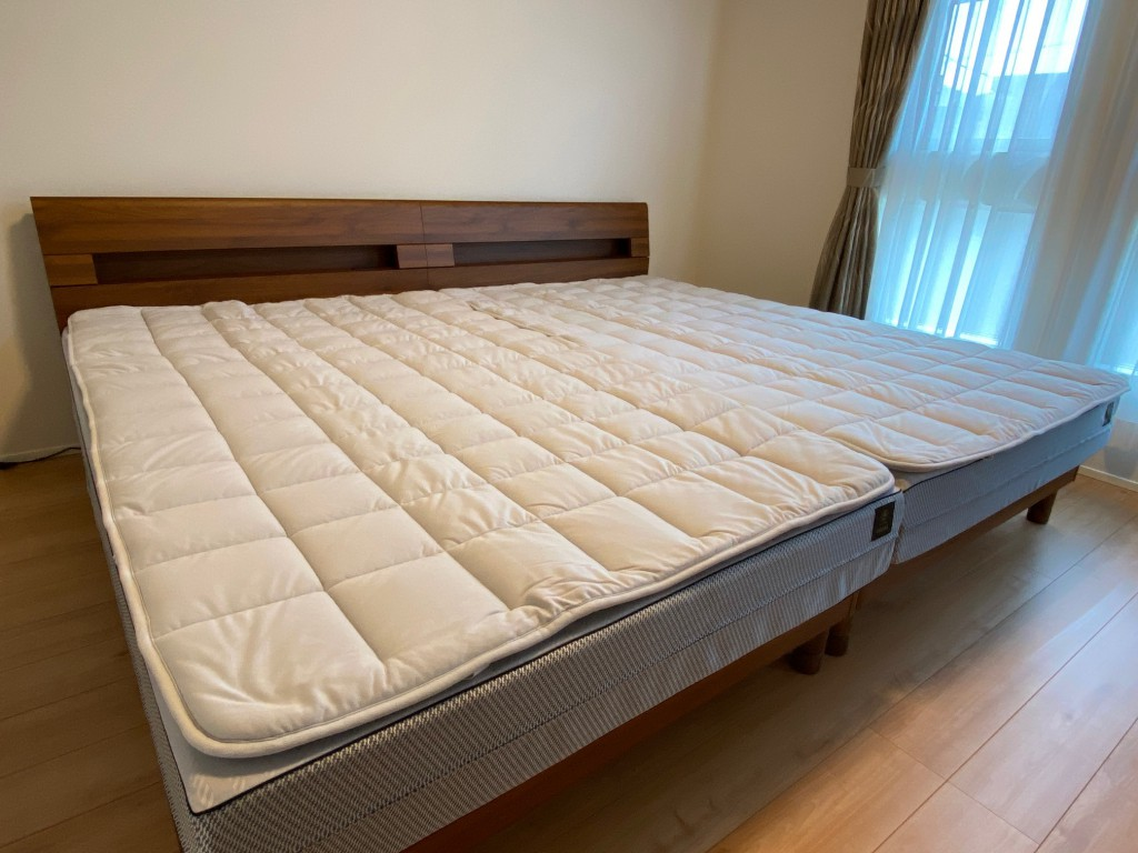 愛知県日進市新築のお宅に、FITLABOオーダーメイドマットレス、セミダブルサイズを2台設置させて頂きました。