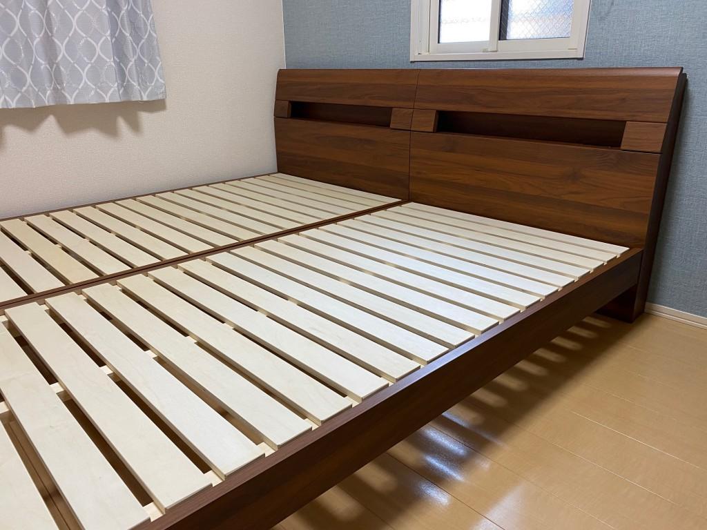 瑞穂区A様、セミダブルサイズからシングルサイズ×2台のベッドにお買い替えです。