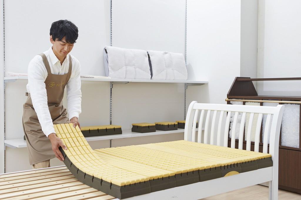 FITLABOのオーダーメイドマットレスは13,000分の1のあなただけの寝心地を作ります。