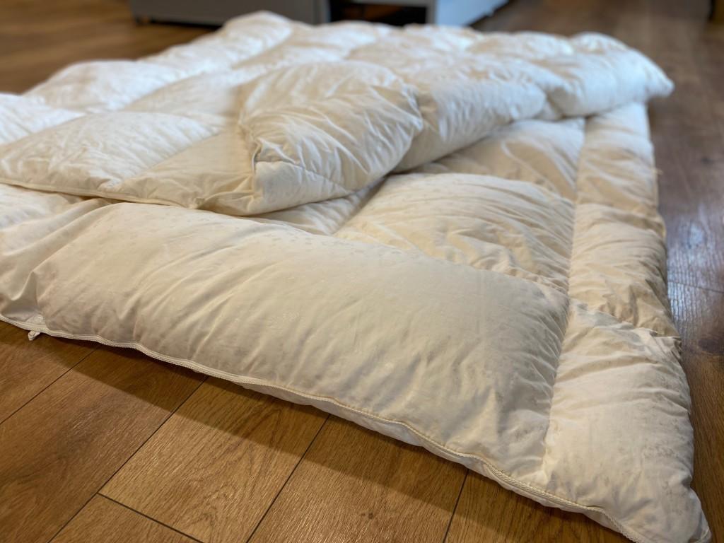 【羽毛布団リフォーム事例】幸田町I様、ご結婚の時に買われたフランスベッドの羽毛をお直し